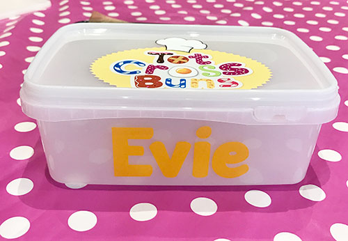 Personalised lunchbox.